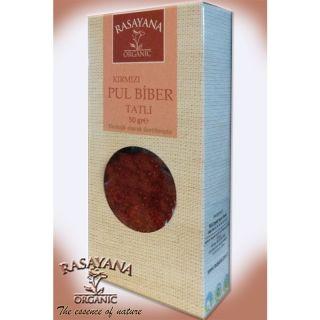 Rasayana Organik Kırmızı Tatlı Pul Biber 50 Gr