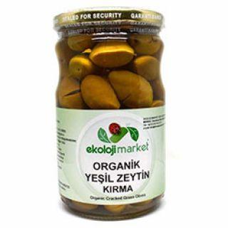 Ekoloji Market Organik Kırma Yeşil Zeytin 540gr