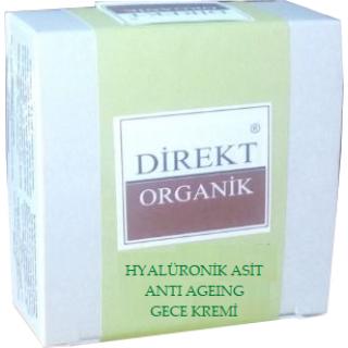 Hyalüronik Asit Gece Kremi ( Cilt Yenileyici-Kırışıklık Azaltıcı-Nem Tutucu) Anti-Age 50 cc  Direkt