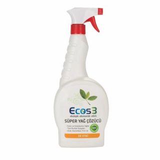 Ecos3 Ekolojik Süper Yağ Çözücü Sprey 750ml