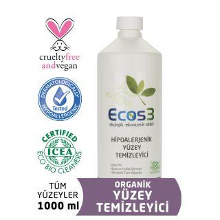 Ecos3 Organik Hipoalerjenik Yüzey Temizleyici 1000 ml